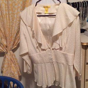 Catherine MaLandrino VNeck blouse